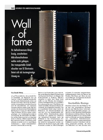 Professional Audio Wall of fame: SE Electronic Reflexion Filter