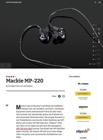 Kopfhoerer.de Mackie MP-220