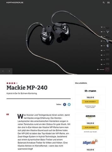 Kopfhoerer.de Mackie MP-240
