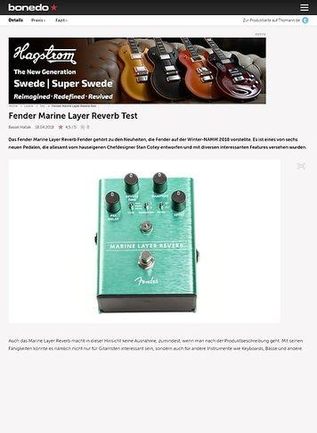 Bonedo.de Fender Marine Layer Reverb