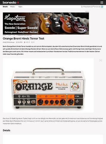 Bonedo.de Orange Brent Hinds Terror