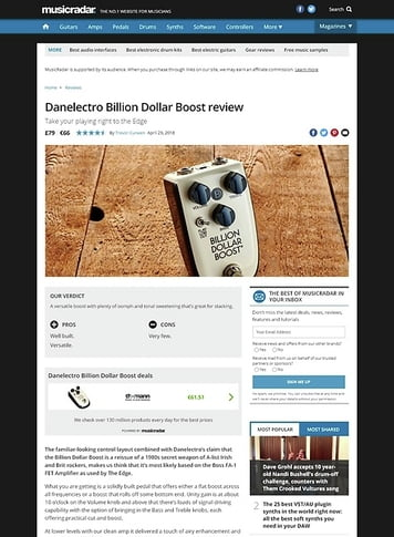 MusicRadar.com Danelectro Billion Dollar Boost