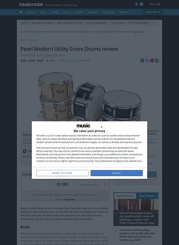 MusicRadar.com Pearl Modern Utility Snare Drums