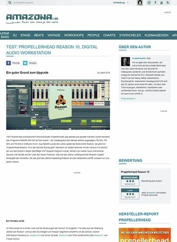 Amazona.de Propellerhead Reason 10