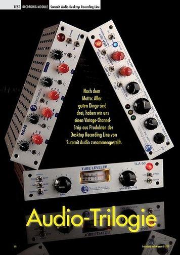 Professional Audio Audio-Trilogie: Summit Audio Desktop Recording Line