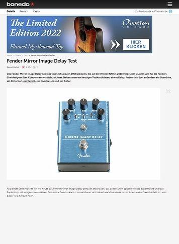 Bonedo.de Fender Mirror Image Delay