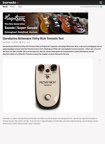 Bonedo.de Danelectro Billionaire Filthy Rich Tremolo