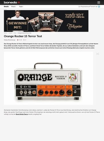 Bonedo.de Orange Rocker 15 Terror
