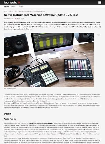 Bonedo.de Native Instruments Maschine Software Update 2.7.5