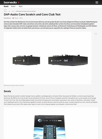 Bonedo.de DAP-Audio Core Scratch und Core Club