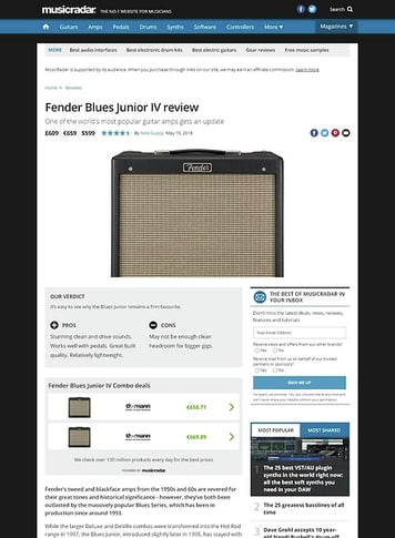 MusicRadar.com Fender Blues Junior IV