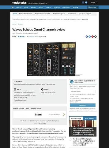 MusicRadar.com Waves Scheps Omni Channel