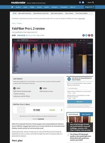 MusicRadar.com FabFilter Pro-L 2
