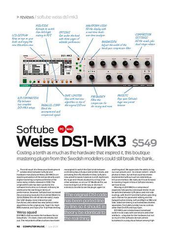Computer Music Softube Weiss DS1-MK3