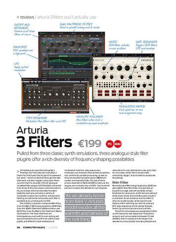 Computer Music Arturia 3 Filters