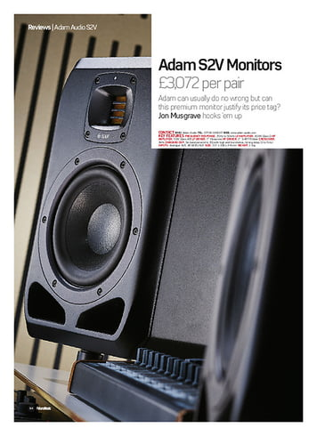 Future Music Adam S2V Monitors
