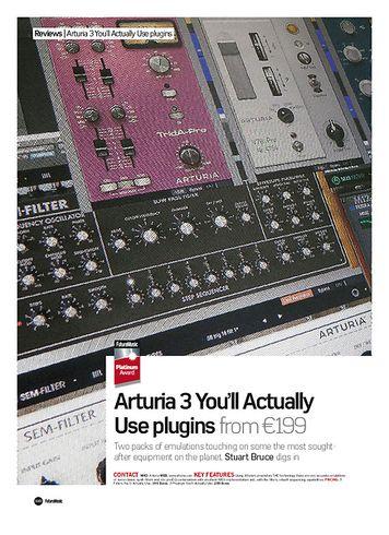 Future Music Arturia 3 plugins