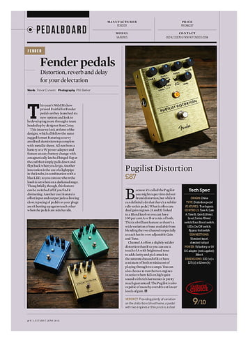Guitarist Fender Pugilist Distortion