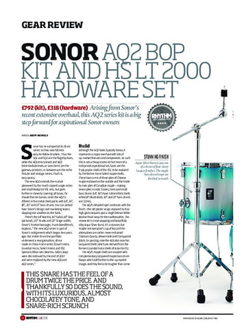 Rhythm Sonor AQ2 Bop Kit and HS LT 2000 Hardware Set