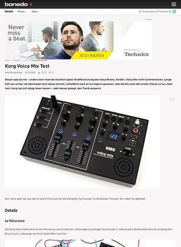 Bonedo.de Korg Volca Mix