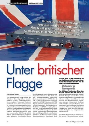Professional Audio Unter britischer Flagge: AMS Neve 1073 DPD