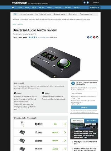 MusicRadar.com Universal Audio Arrow