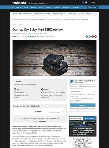 MusicRadar.com Dunlop Cry Baby Mini 535Q