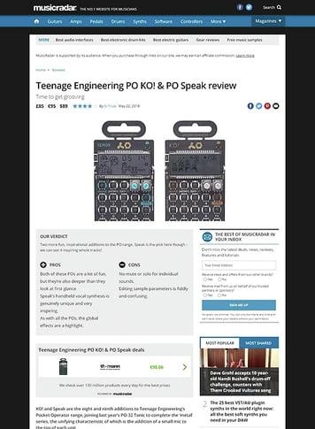 MusicRadar.com Teenage Engineering PO KO! & PO Speak