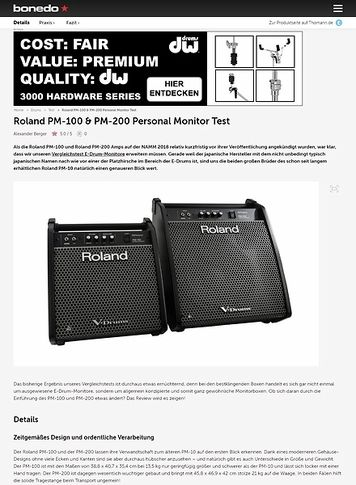 Bonedo.de Roland PM-100 & PM-200 Personal Monitor