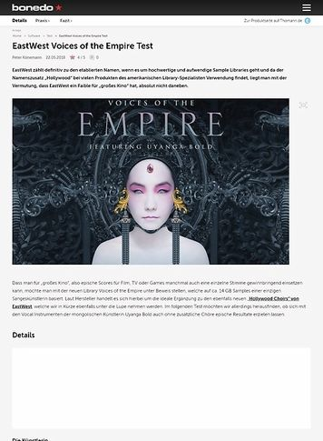 Bonedo.de EastWest Voices of the Empire