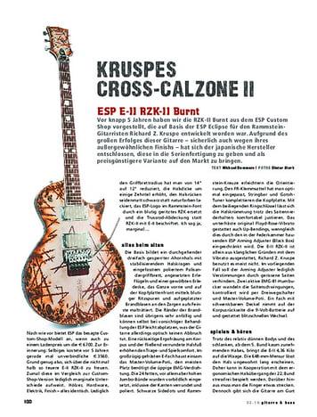 Gitarre & Bass ESP E-II RZK-II Burnt