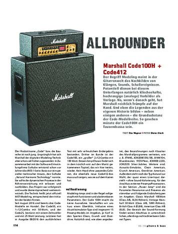 Gitarre & Bass Marshall Code100H und Code412