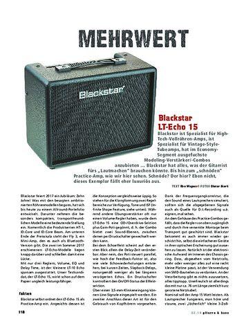 Gitarre & Bass Blackstar LT-Echo 15