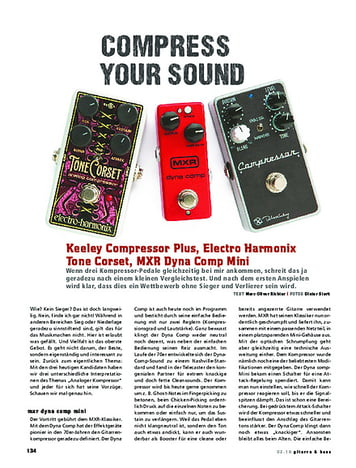 Gitarre & Bass Vergleichstest! Keeley Compressor Plus, Electro Harmonix Tone Corset, MXR Dynacomp Mini