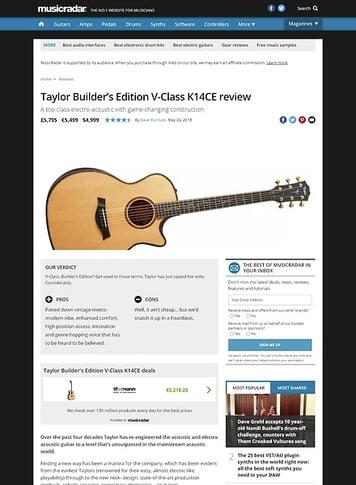 MusicRadar.com Taylor Builder's Edition V-Class K14CE