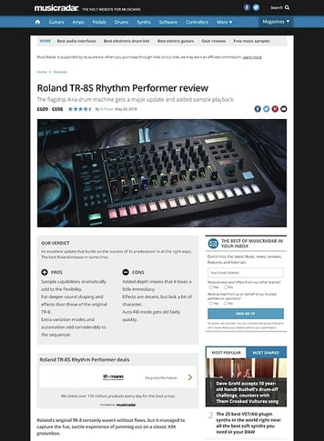 MusicRadar.com Roland TR-8S Rhythm Performer