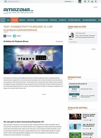 Amazona.de iConnectivity PlayAudio 12