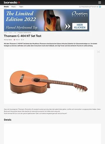 Bonedo.de Thomann C-404 NT Set