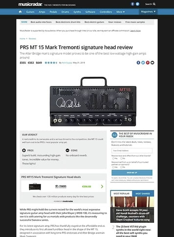 MusicRadar.com PRS MT 15 Mark Tremonti signature head