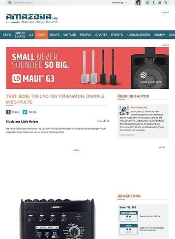 Amazona.de Bose T4S und T8S ToneMatch