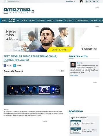 Amazona.de Tegeler Audio Manufaktur Raumzeitmaschine