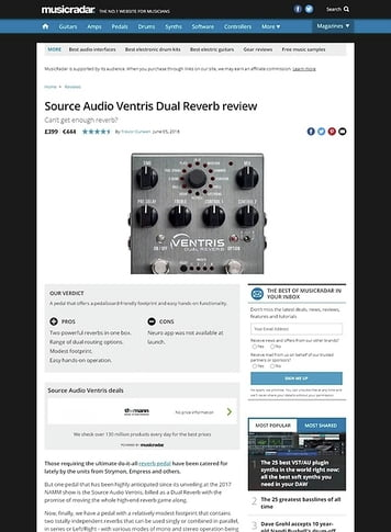 MusicRadar.com Source Audio Ventris