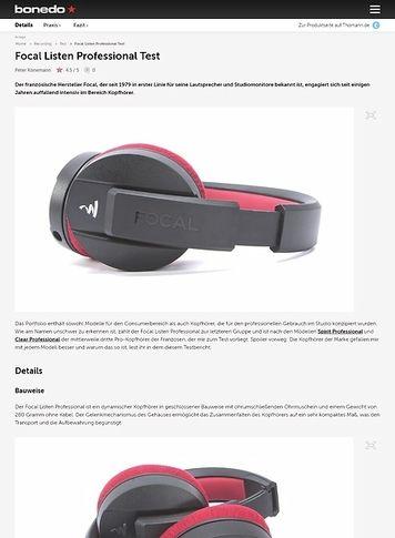 Bonedo.de Focal Listen Professional