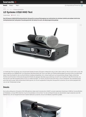 Bonedo.de LD Systems U518 HHD