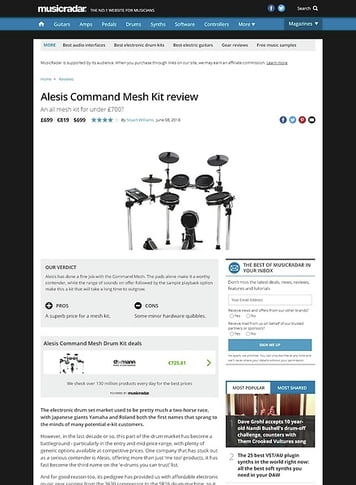 MusicRadar.com Alesis Command Mesh Kit