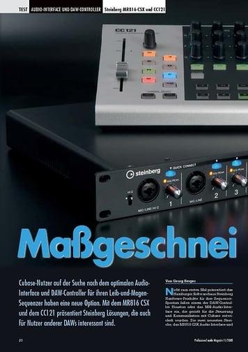 Professional Audio Maßgeschneidert Steinberg MR816 CSX und CC121