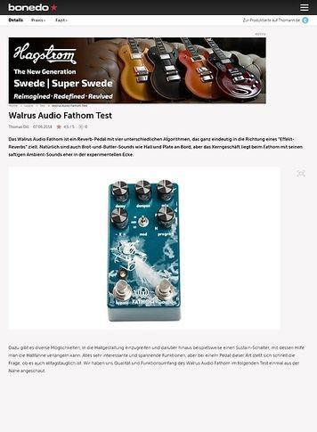 Bonedo.de Walrus Audio Fathom