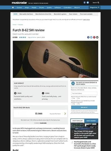 MusicRadar.com Furch B-62 SW