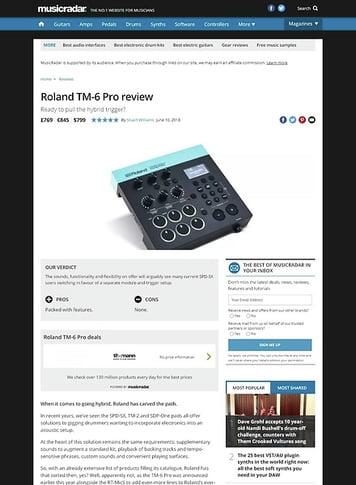 MusicRadar.com Roland TM-6 Pro