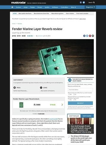 MusicRadar.com Fender Marine Layer Reverb